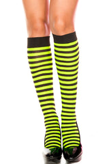 Striped Opaque Knee Highs