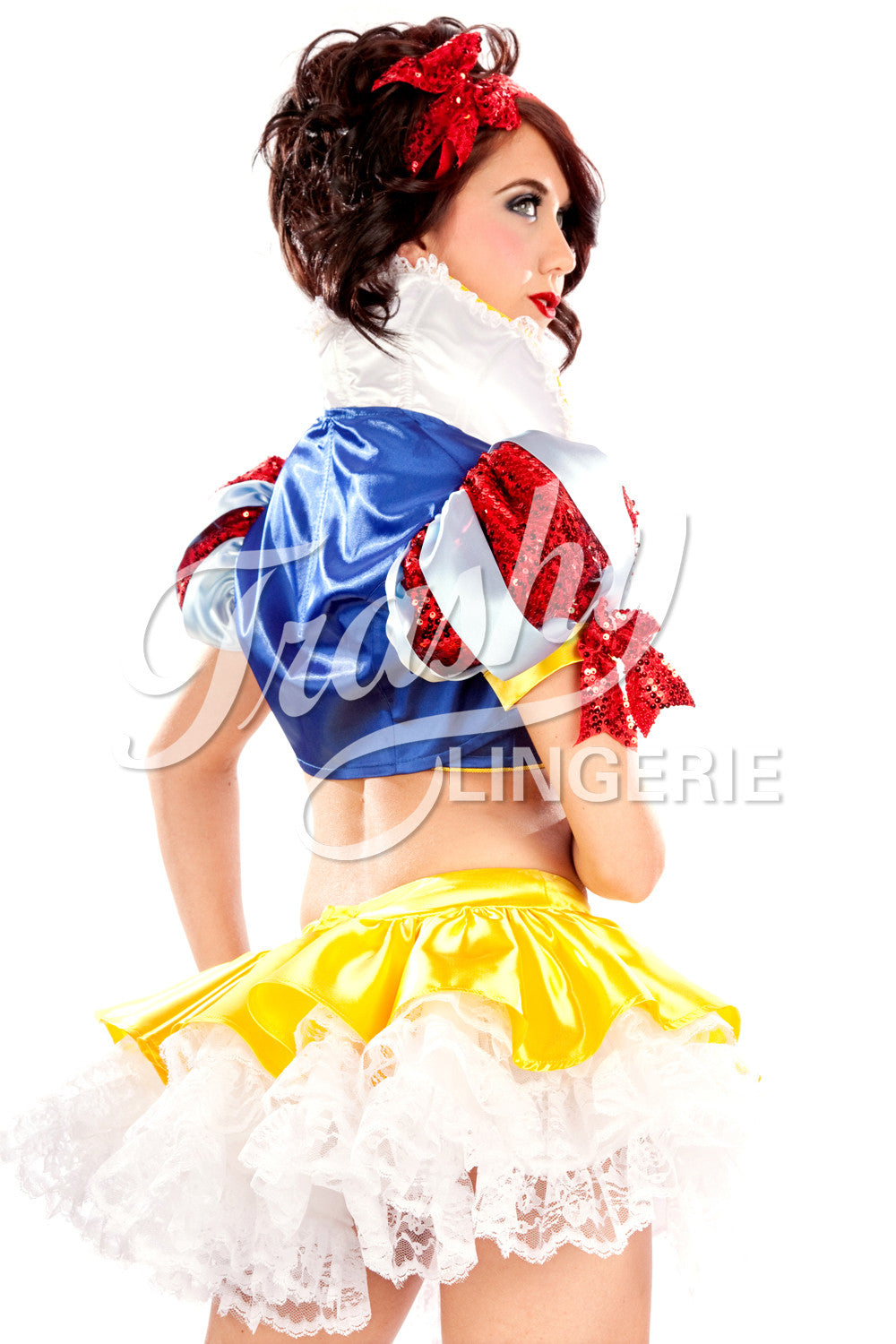 Satin Snow White Top