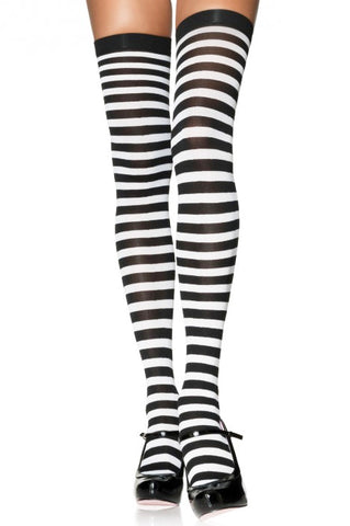 Striped Thigh Highs