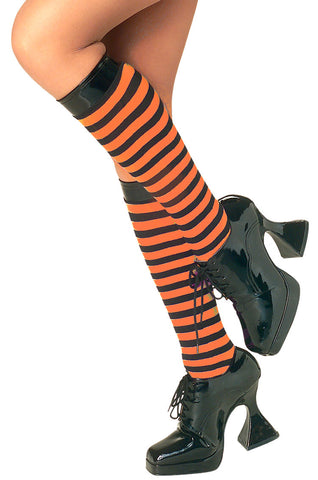 Vinyl Top Striped Knee Highs