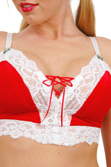 Larrykins Lace-up Camisole with Christmas Appliqués