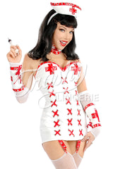 Nurse Napalm Strapless Garter Dress