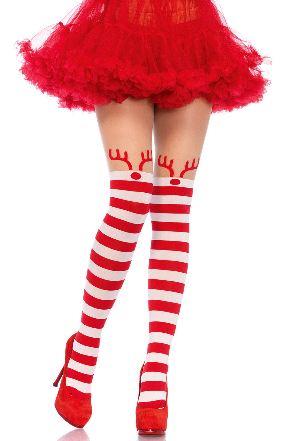 Striped Reindeer Pantyhose
