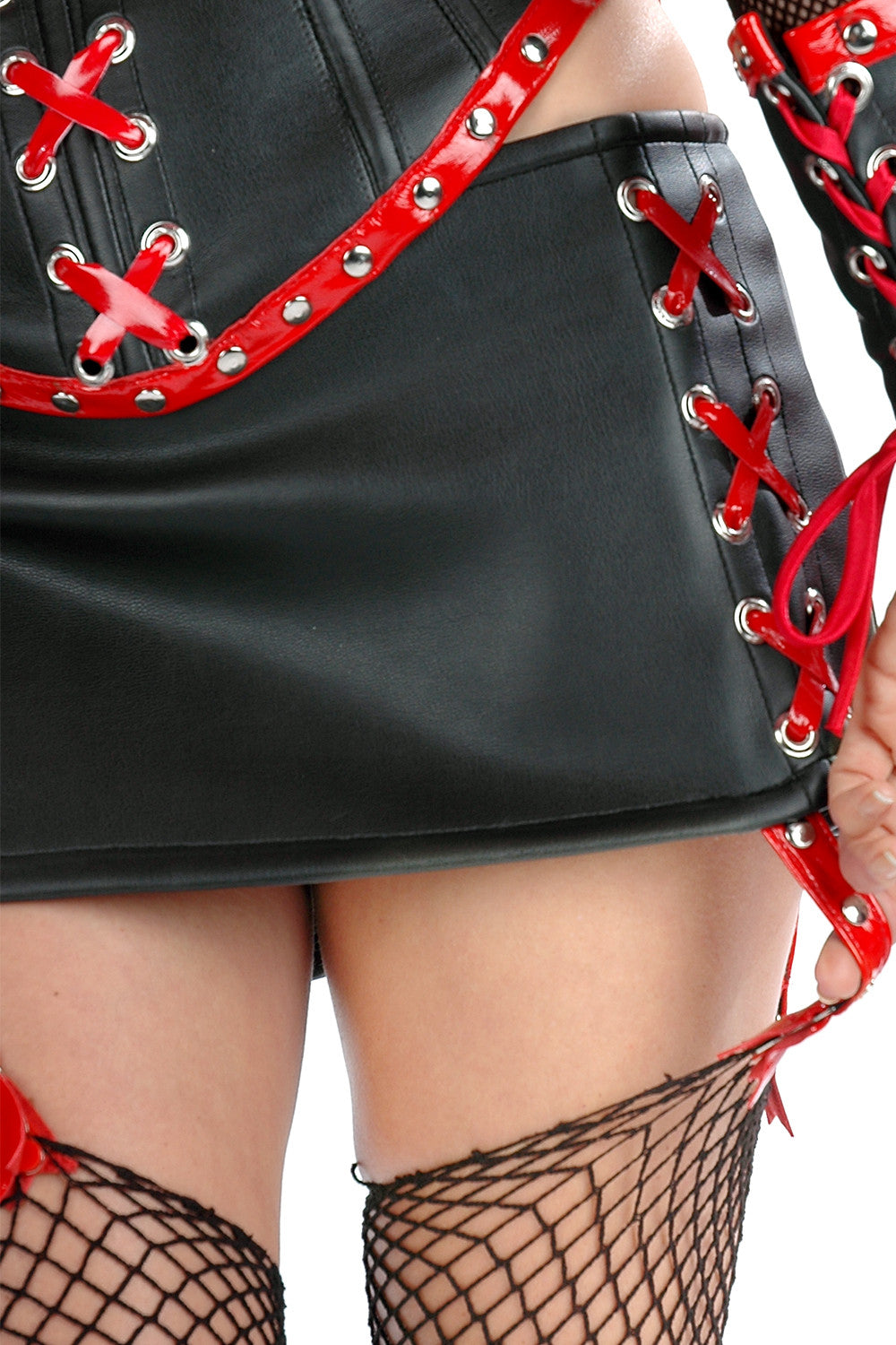 Nurse Napalm Skirt with Garters