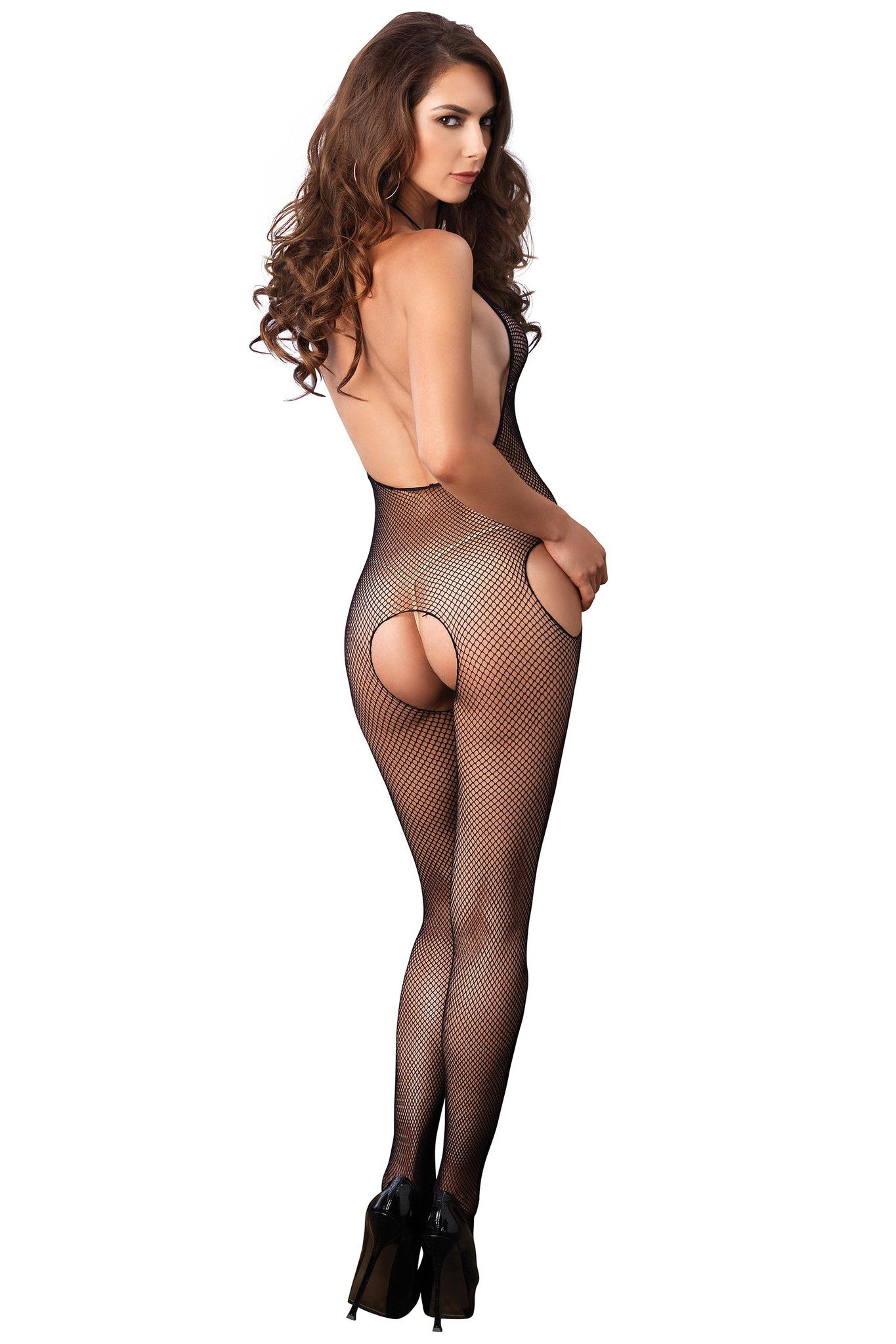 Halter Fishnet Suspender Bodystocking