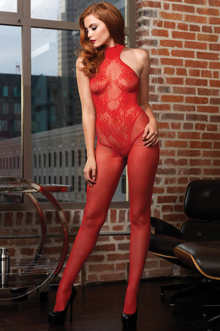Floral Lace Hourglass Bodystocking