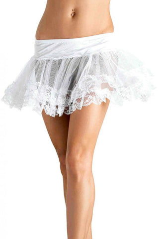 Short White Lace Tutu