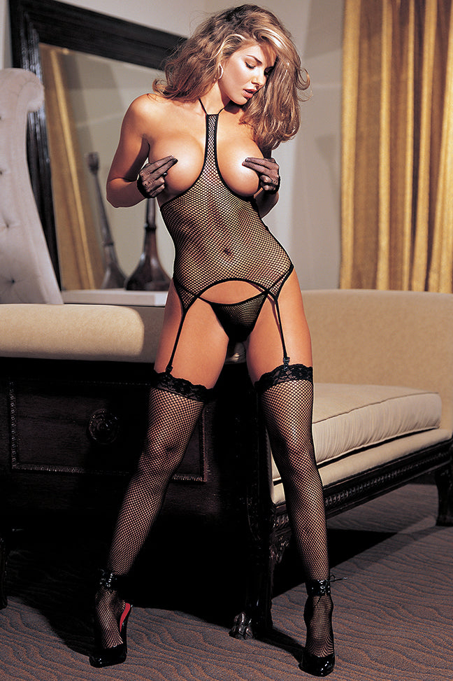 Fishnet Suspender Bodystocking