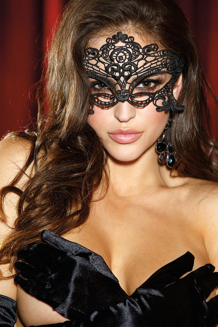 Embroidered Venice Lace Mask