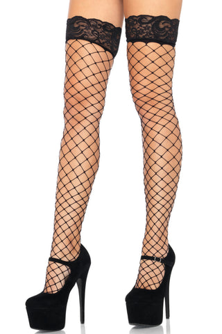 Lace Top Fence Net Stockings