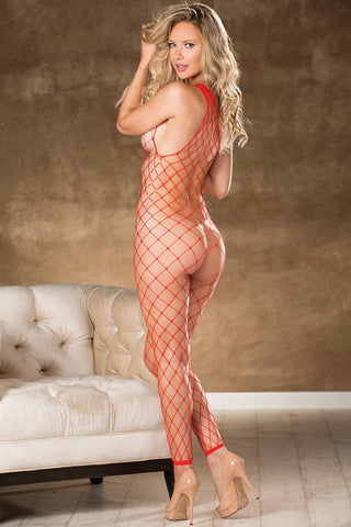 Jeweled Fence Net Bodystocking