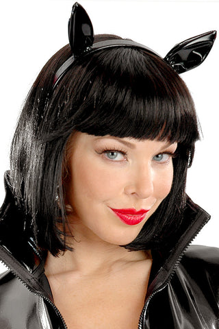 Black Vinyl Cat Ears