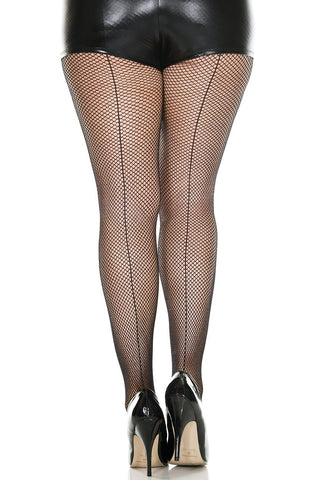 Seamed Fishnet Pantyhose