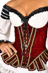 Sharon Pirate Corset with Sleeves