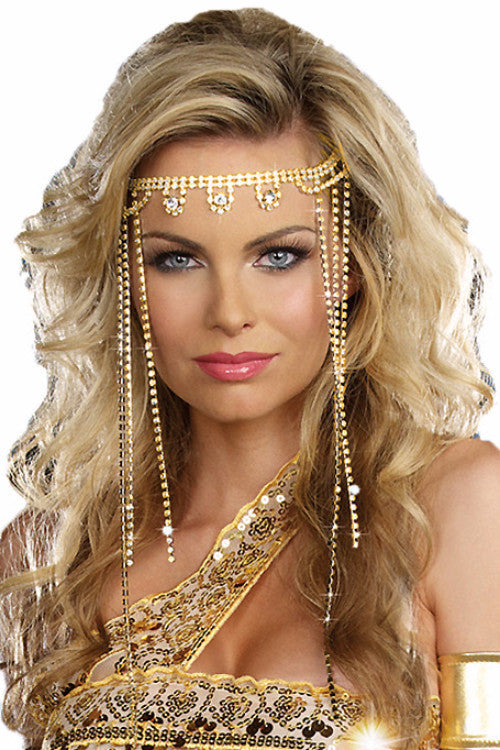 Gold Crystal Rhinestone Headpiece