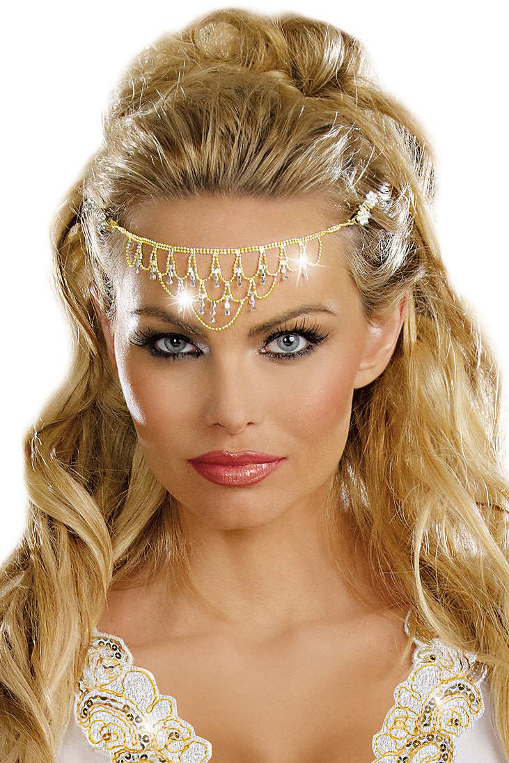 Rhinestone Goddess Headpiece