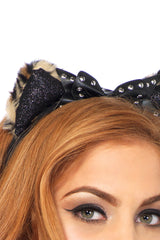 Studded Plush Cheetah Ears