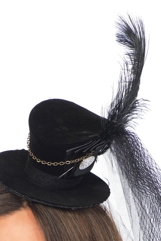 Velvet Chain Top Hat
