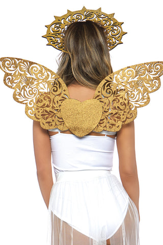 Gold Angel Wings & Halo