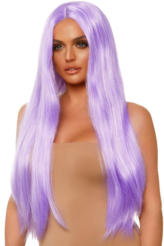 Long Straight Lavender Wig