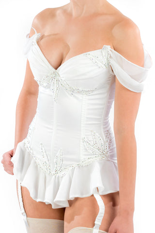 Bombshell Corset with Arm Swags and Skirt