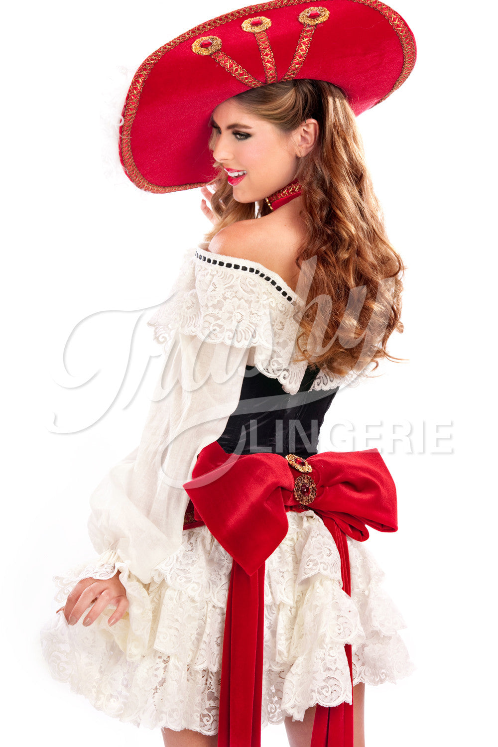 Brazil Pirate Corset with Sleeves