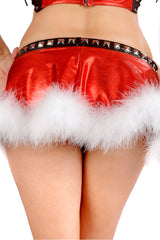 Punky Santa Skirt with Studs