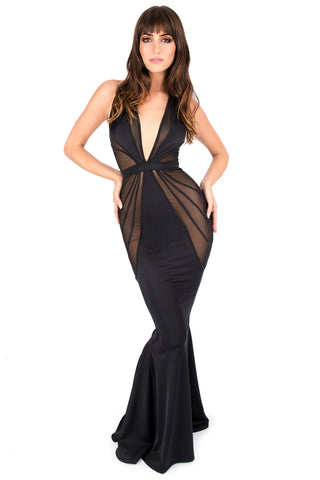 Deco Plunge Gown