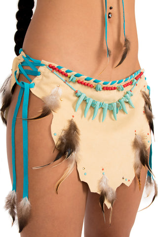 Feather Pocahontas Skirt