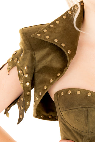Pan Bolero with Rivets