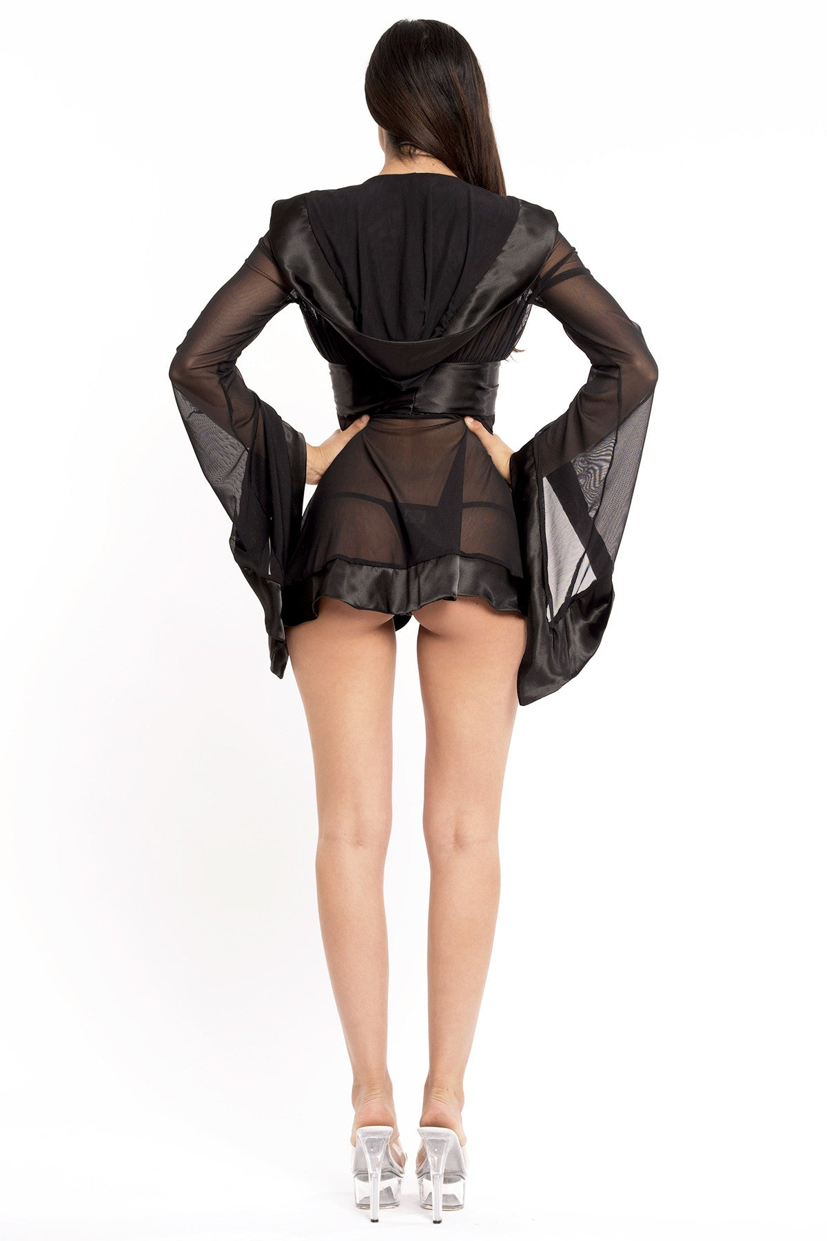 Simona Short Robe with Hood