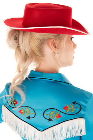Desert Rose Cowgirl Hat