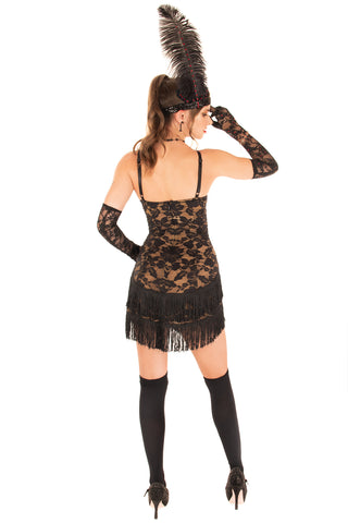 Stretch Lace Flapper Dress