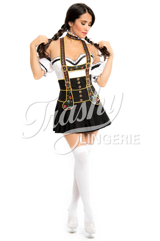 Lederhosen Skirt with Suspenders
