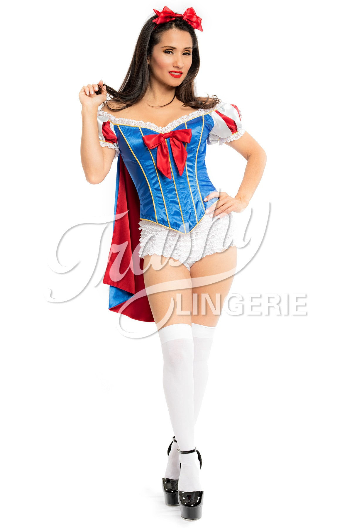 Snow White Corset with Cape