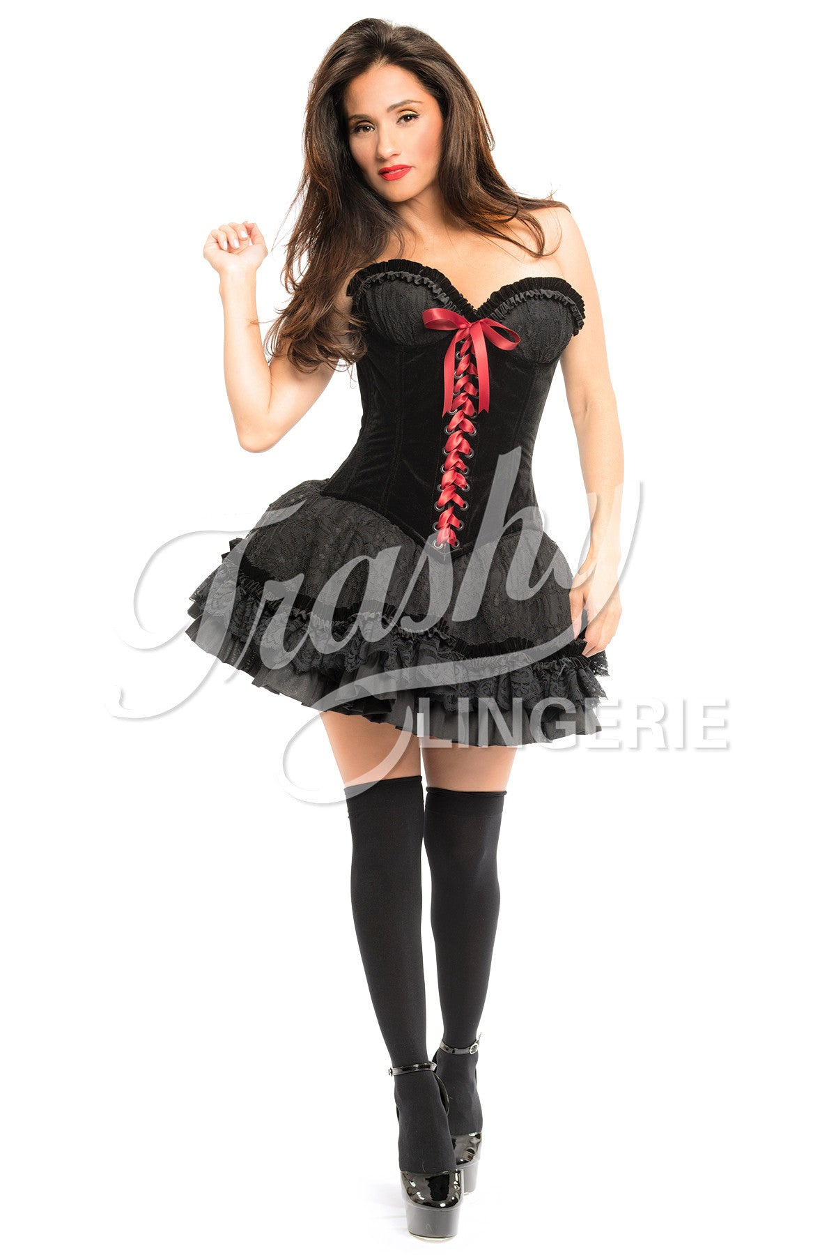 Black Red Riding Hood Corset
