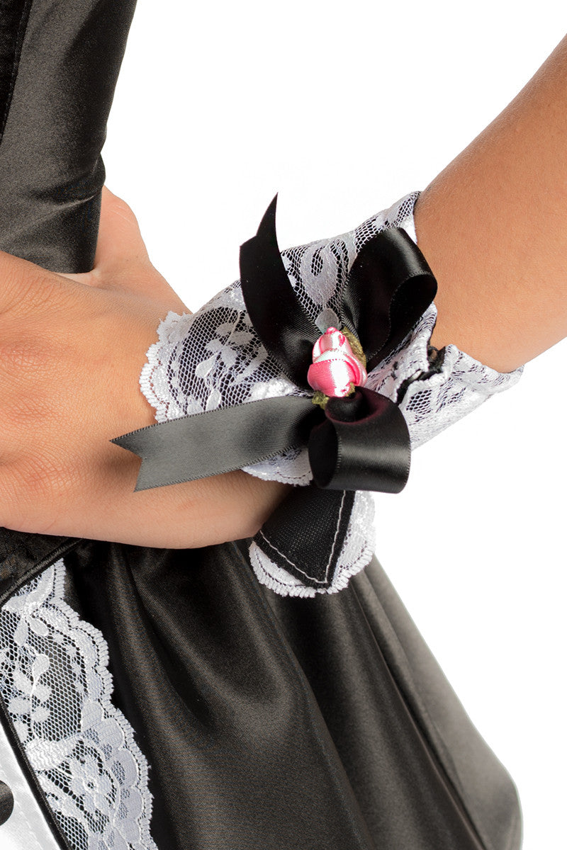 Button French Maid Wrist Cuffs