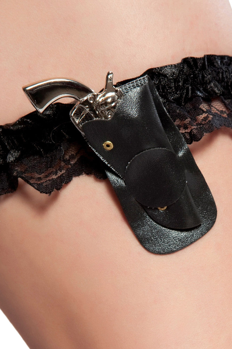Leg Garter with Mini Gun in Holster