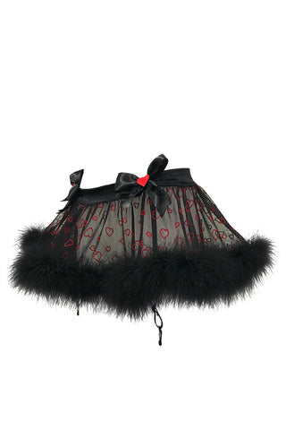Sex Kitten Garter Skirt with Marabou