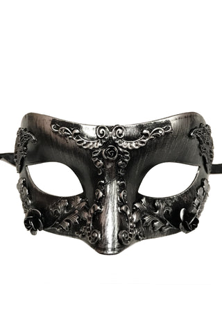 Silver Steampunk Rose Mask