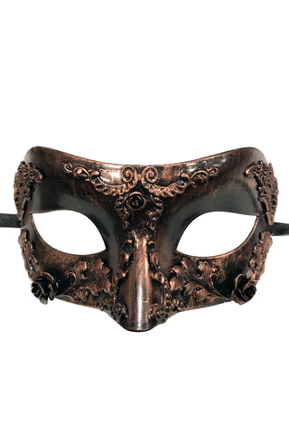 Copper Steampunk Rose Mask
