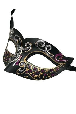 Silver Glitter Carnival Party Mask