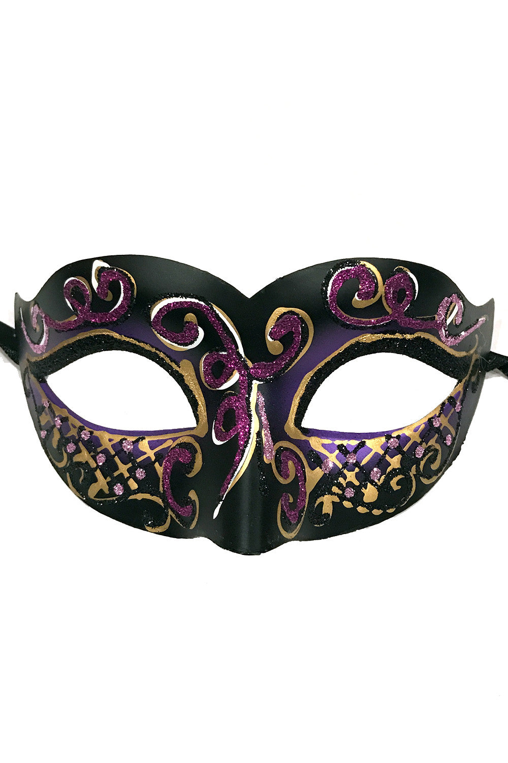 Purple Glitter Carnival Party Mask