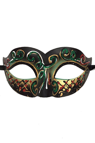Green Glitter Carnival Party Mask