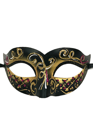 Gold Glitter Carnival Party Mask