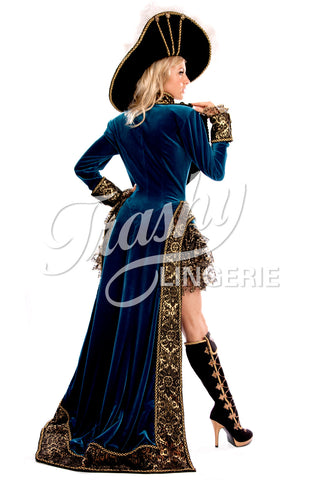 Long Velvet Pirate Coat