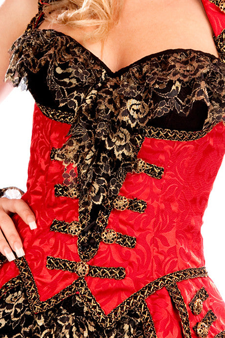 Pirate Edy Corset with Ruffle
