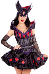 Wicked Queen Corset with Collar