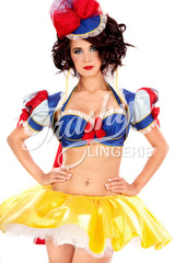 Glitter Snow White Bolero with Cape