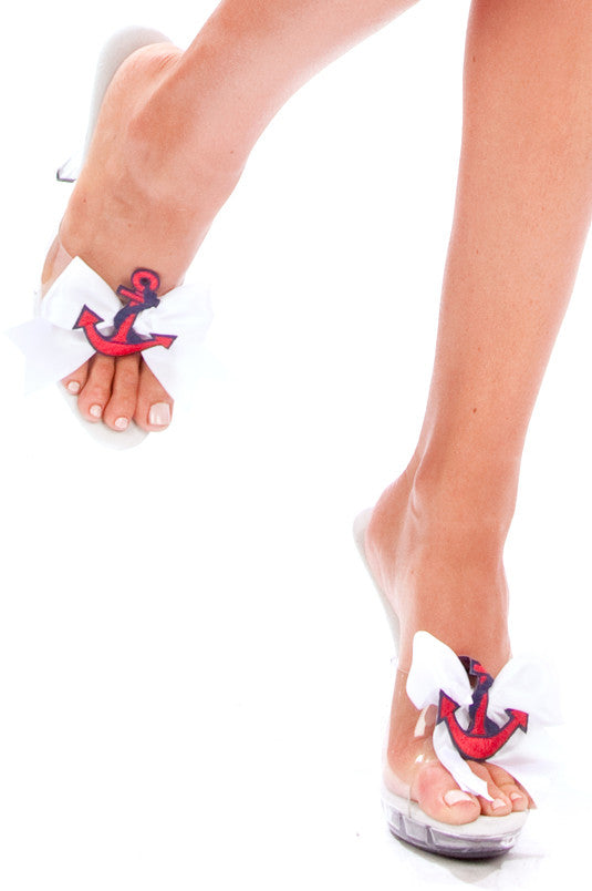 Satin Sailor Shoe Clips